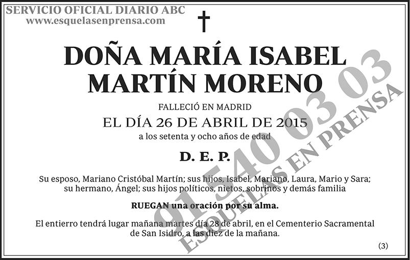 María Isabel Martín Moreno